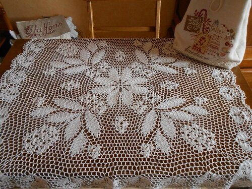 napperon dentelle crochet