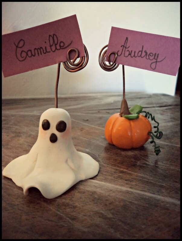 porte photo Halloween fimo 3