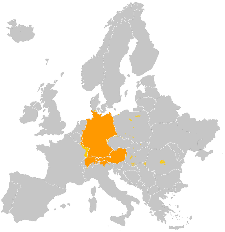 German speaking Europe
