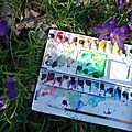 Nouvelle palette d'aquarelle