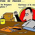 Passation de pouvoir . .