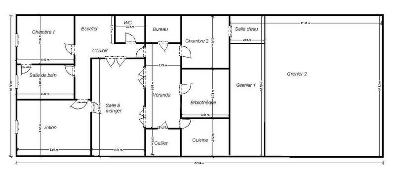 Plans d une maison plan principales plan du0027une for Plan maison coupe