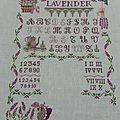Sampler lavender