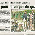 Dauphiné libéré : article sur la plantation du verger