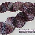 Nouveau modèle slip stitch wave scarf