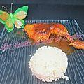 Cuisse de poulet aromatisé