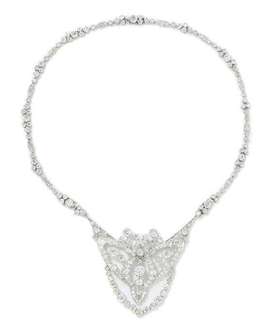 An Art Deco Platinum and Diamond Convertible Sautoir, Cartier, Circa 1920