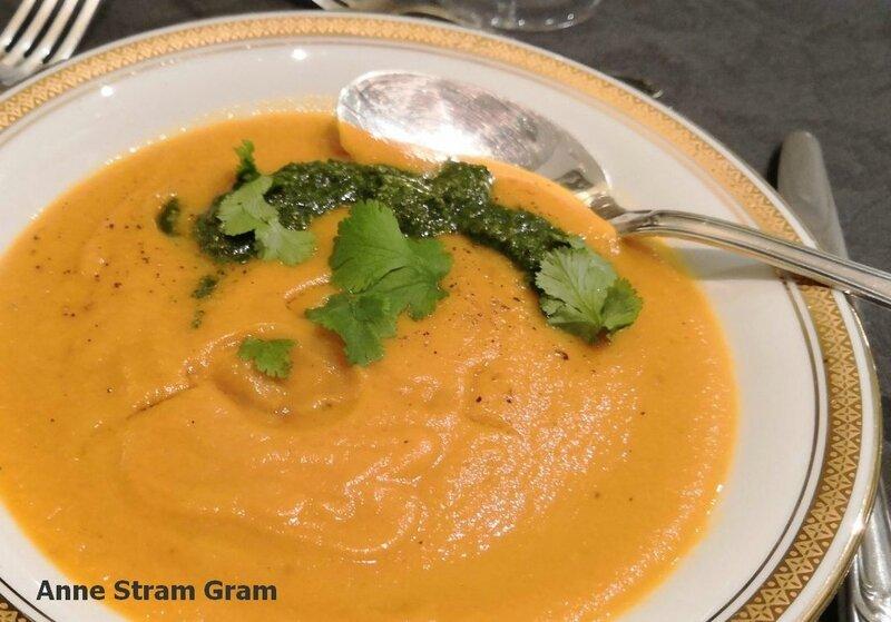 Potage carotte lentilles corail
