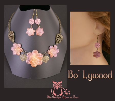 Collier Bo'lywwod sur support