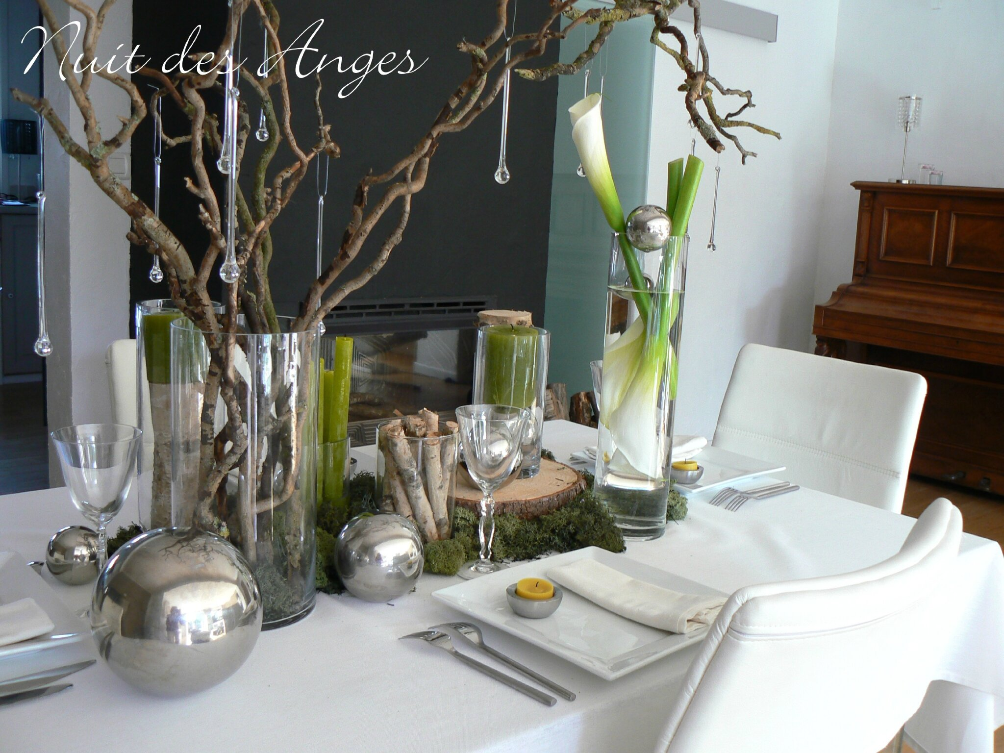 Nuit des anges d coratrice de mariage d coration de table - Decoration de table nature ...