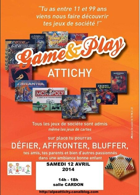 Affiche Game & play2 AVRIL 2014