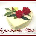 composition florale - coeur de mousse - roses stabilisées