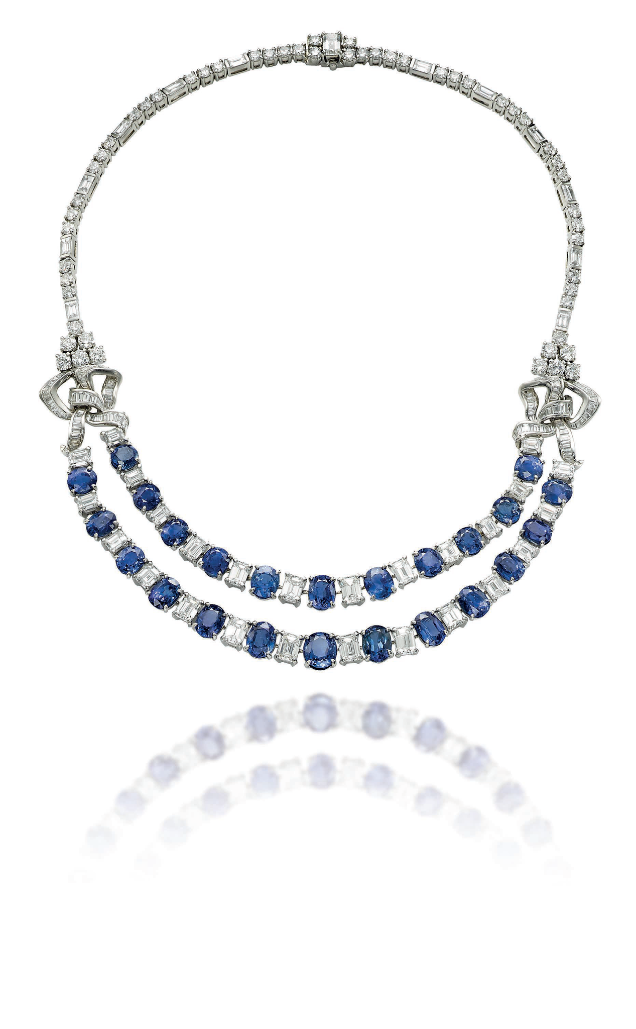 A sapphire and diamond necklace, by Bulgari