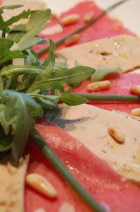 Carpaccio boeuf - foie gras (1)