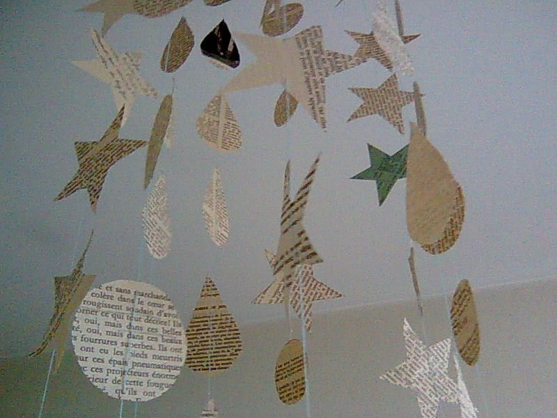 Papers in the air mybrouhaha - Mobile de noel a fabriquer ...