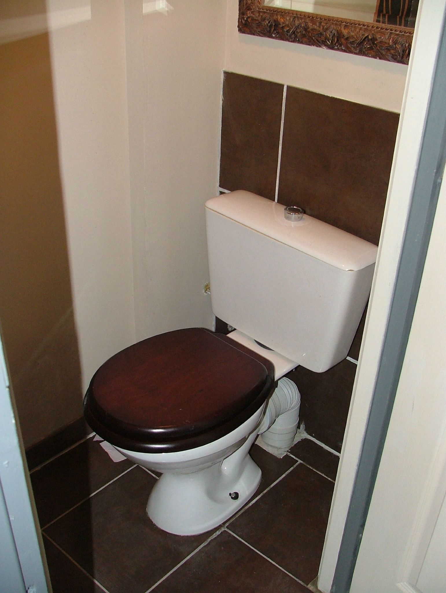 Carrelage toilette sol finest cette photo montre des wc - Idee carrelage toilette ...