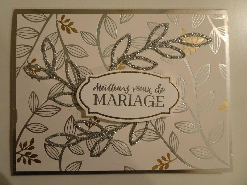 14 Carte Mariage Printemps métallisé