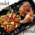 Cuisses ou ailes de poulet au miel, au vin blanc et à la sauce soja avec des petits légumes : recette d'annaelle