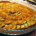 The tarte aux courgettes/chavroux/parmesan