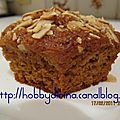 Muffins miel et carottes / медово-морковные маффины
