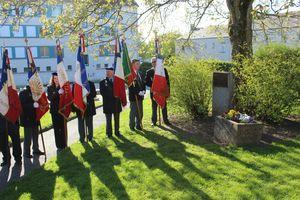 journée de souvenir des victimes de la déportation Avranches 2013 stèle famille Mainemer Rozental Mendelbaum UNC ACPG-CATN
