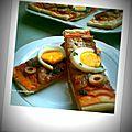 pizza d'aubergine
