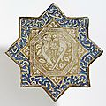 Star-shaped tile, iran (probably kashan), ca.1325