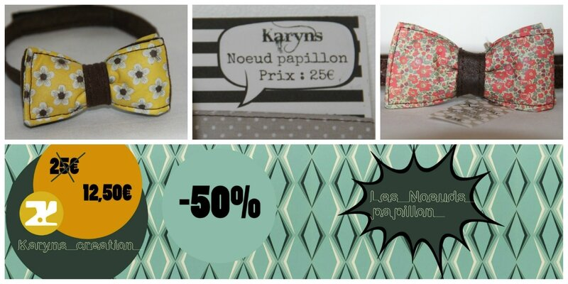 noeuds papillon soldes karyns creation 3