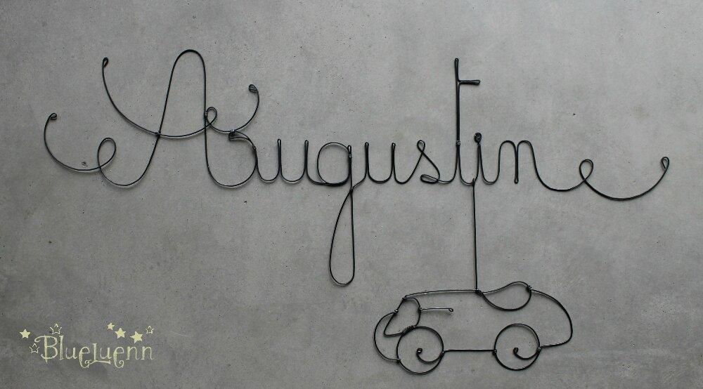 augustin photo de cr ations pr noms en fil de fer blueluenn. Black Bedroom Furniture Sets. Home Design Ideas