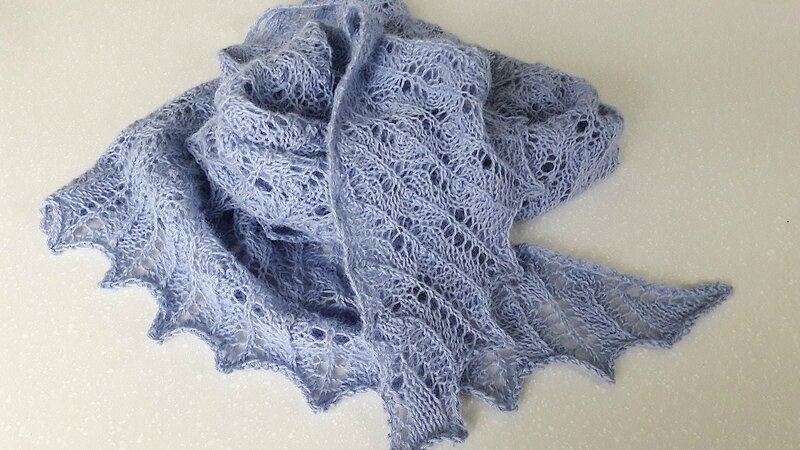 Beginner's Lace Shawl 11
