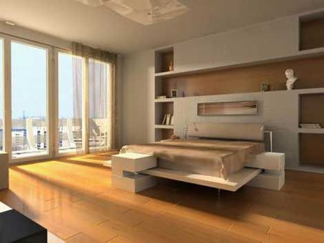 Chambre design blanc beige photo de chambres design for Chambre design homme