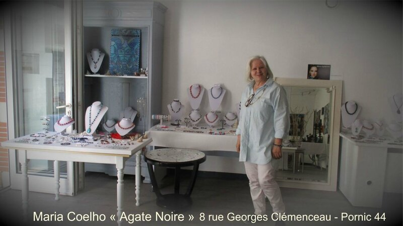 Maria COELHO créatrice bijoux AGATE NOIRE à Pornic