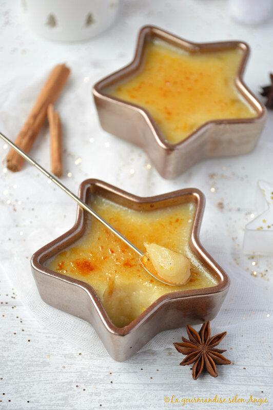 crème brûlée végétale à l'orange et à la cannelle Noël