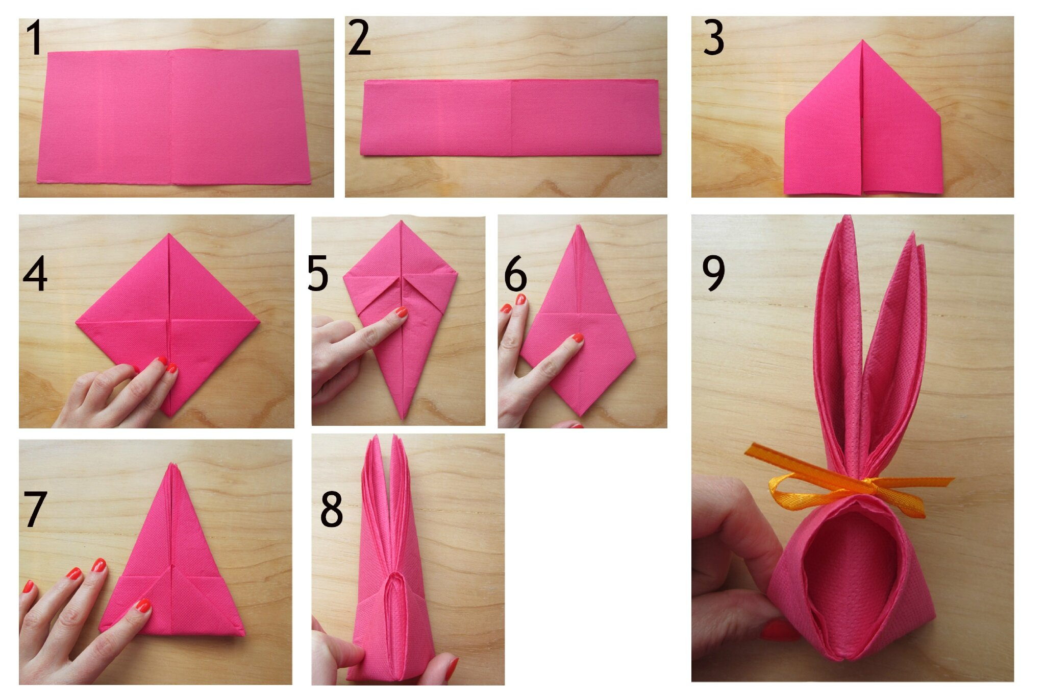 Activit s de p ques nous et les minibouts for Pliage serviette de table papier