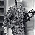Cristóbal Balenciaga 1952 Winter Suit, Photo Pottier