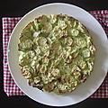 Tarte sans pâte aux courgettes