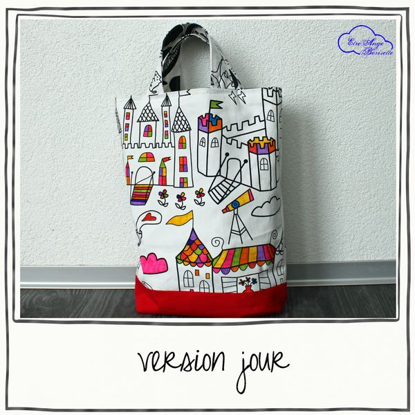tote reversible version jour