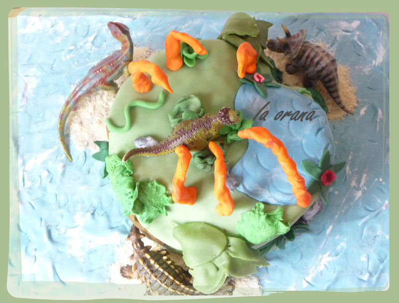 3d dinosaur cake instructions