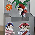 Déco pirate: chaise en carton de pirate
