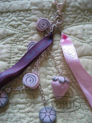bijou sac fraise rose IDRIL