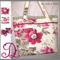 sac fleuri rose lin