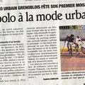 L'article du dauphiné...