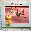 cadre de naissance pour Elyssa en porcelaine froide