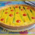 Quiche aux asperges, coriandre et curry de eric kayser