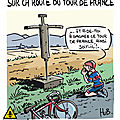 Sur la route du tour de france