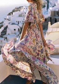 purple-floral-draped-drawstring-plunging-neckline-bohemian-maxi-dress