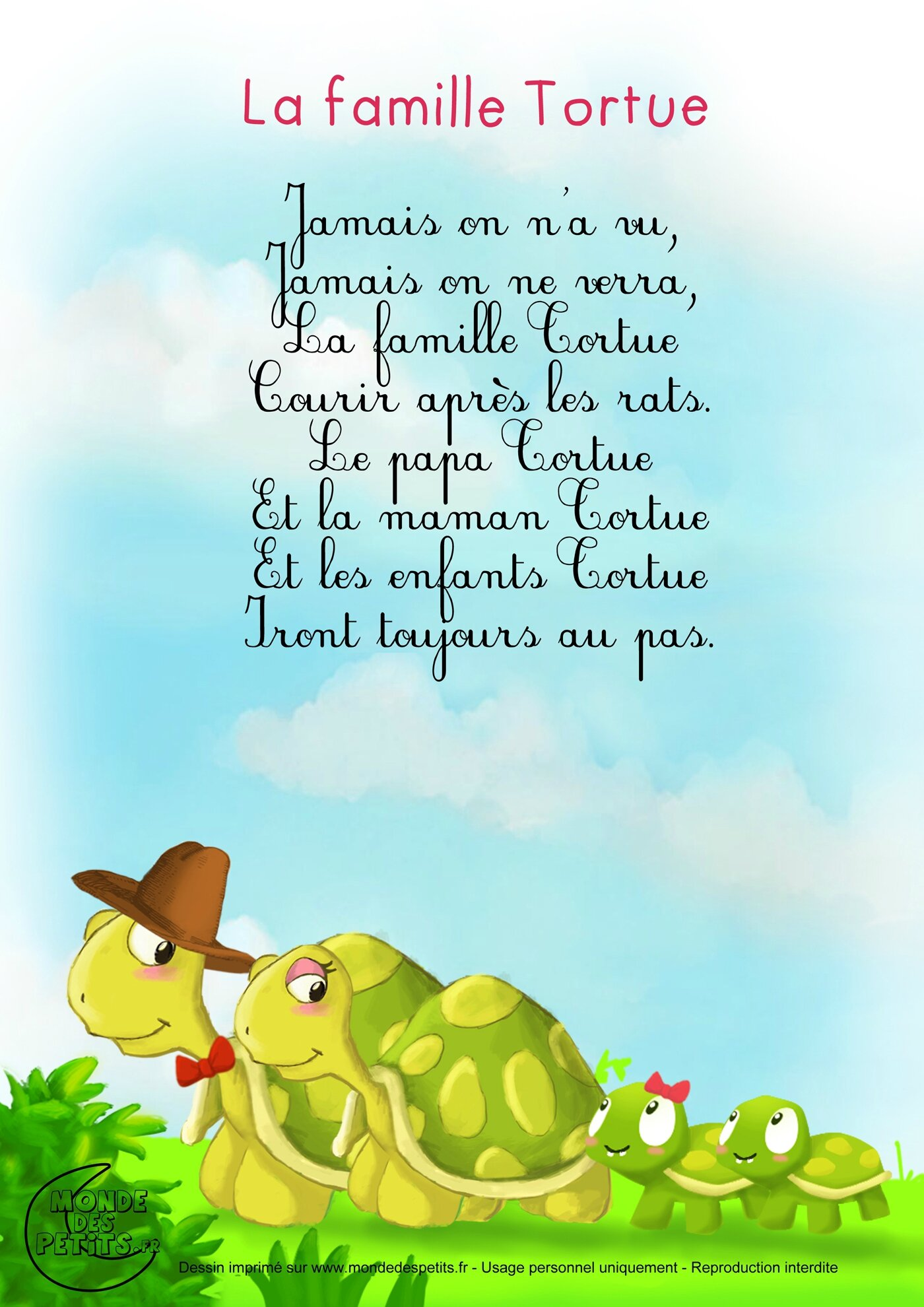 comptine-paroles-tortue