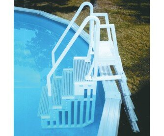 Escalier pour les piscines hors sol la vie de malorie for Piscine hors sol avec escalier interieur
