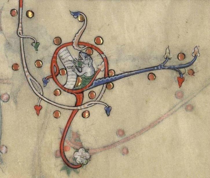 Bréviaire de Renaud de Bar, France, 1302-1303 chien