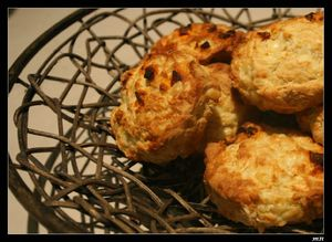 scones chorizo et cheddar